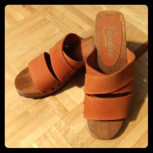 Candies wood sandals